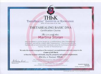 Thetahealing Therapie Zertifikat_Martina Stoian